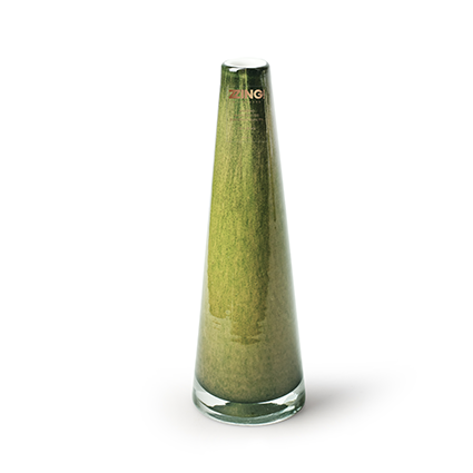 Zzing vase 'long' green h20 cm