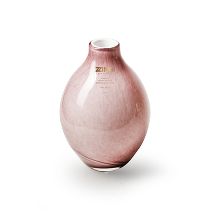 Zzing vaas oud roze h15 d8 cm