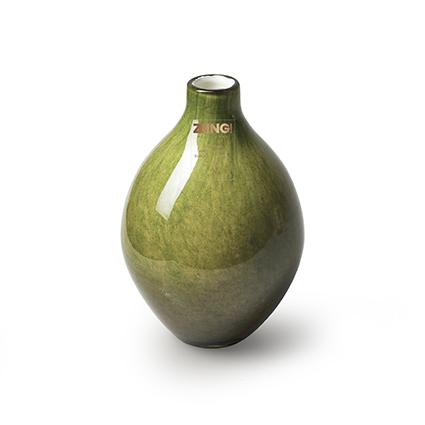 Zzing vase green h15 d8 cm