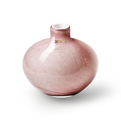 Zzing vaas 'wide' oud roze h10 d10 cm