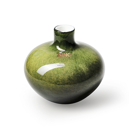 Zzing vase 'wide' green h10 d10 cm
