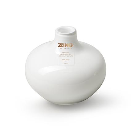 Zzing vase 'wide' white h10 d10 cm