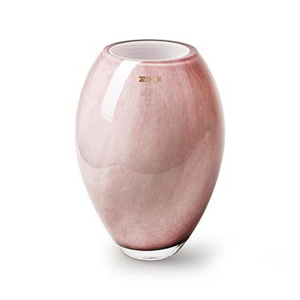 Zzing vaas 'curve' oud roze h24 d16 cm