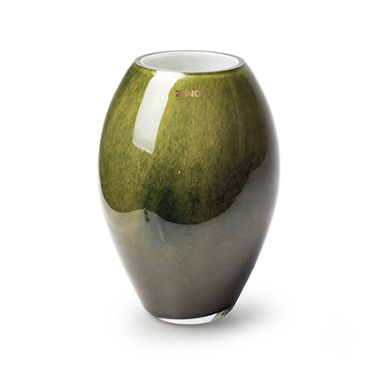Zzing vase 'curve' green h24 d16 cm
