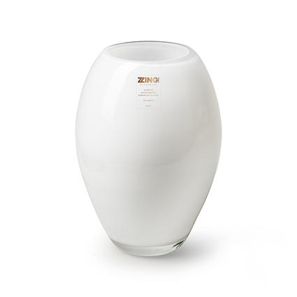 Zzing vase 'curve' white h24 d16 cm