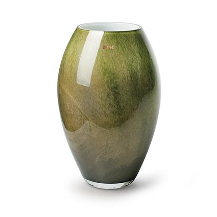 Zzing vase 'curve' green h30 d19 cm
