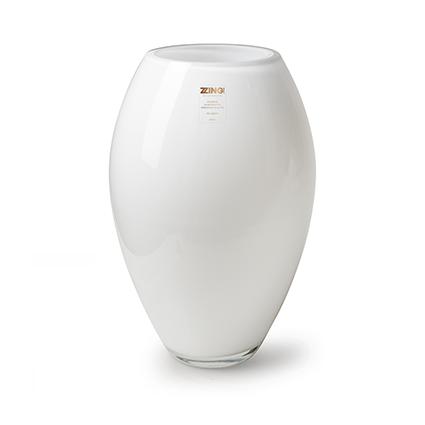 Zzing vase 'curve' white h30 d19 cm