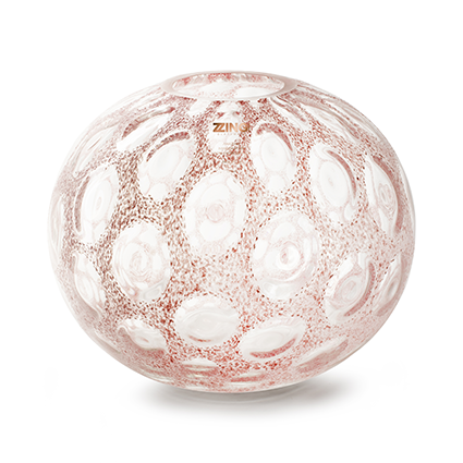 Zzing vaas 'marith' roze h25 d30 cm