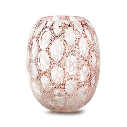 Zzing vaas 'milton' roze h30 d25 cm