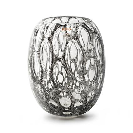 Zzing vaas 'milton' donker grijs h30 d25 cm