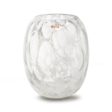 Zzing vase 'milton' white h30 d25 cm
