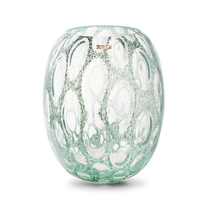 Zzing vase 'milton' green h30 d25 cm