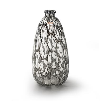 Zzing vase 'merve' dark grey h41 d20 cm