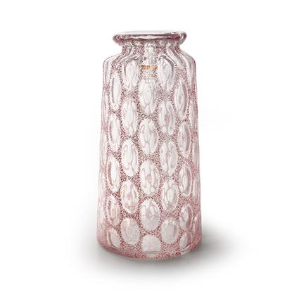 Zzing vaas 'malou' roze h39 d20 cm