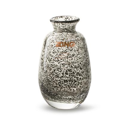 Zzing vaas 'janny' smoke/zilver h14 d8 cm