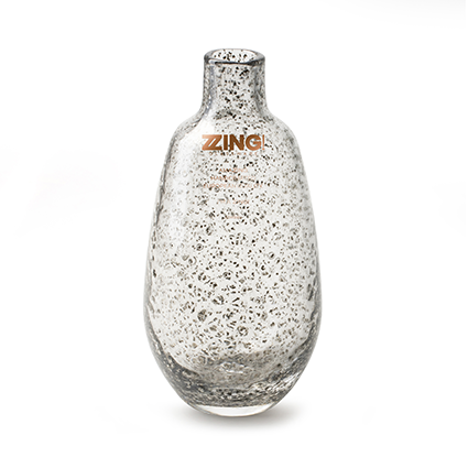 Zzing vaas 'jolly' smoke/zilver h18 d9 cm
