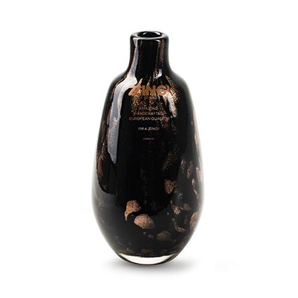 Zzing vaas 'jolly' zwart/goud h18 d9 cm