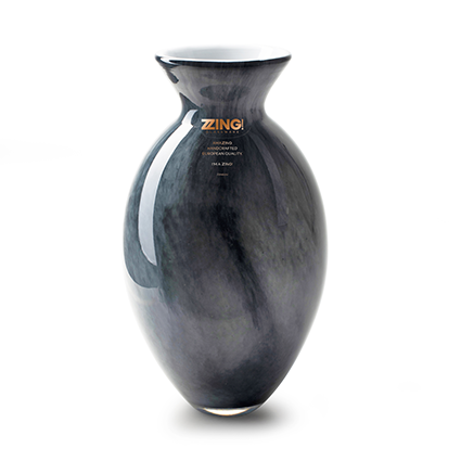 Zzing vase 'jimmy' grey h25 d16 cm