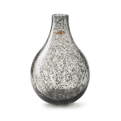 Zzing vaas 'jeanny' smoke/zilver h28 d19 cm