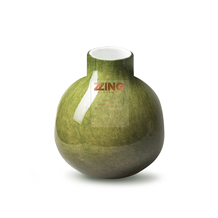 Zzing vaas 'jippy' mosgroen h11 d10 cm