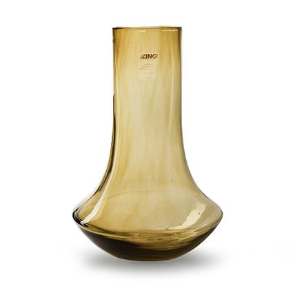 Zzing vaas 'tony' olijf geel h38 d23 cm