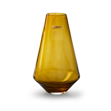 Zzing vaas 'diggy' amber h25 cm