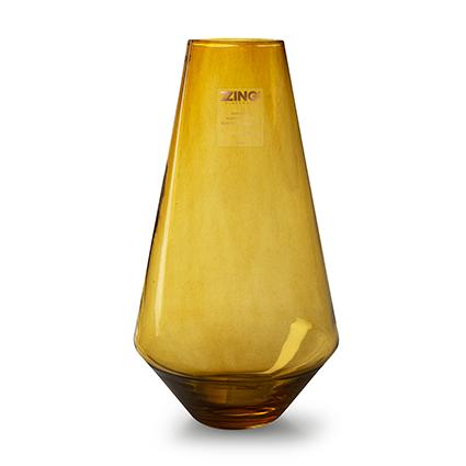 Zzing vaas 'diggy' amber h35 cm