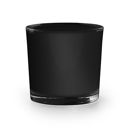 cilinder 'heavy' mat zwart h8 d9 cm