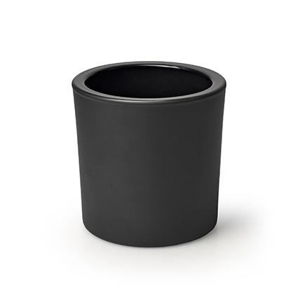 Cilinder 'heavy' mat zwart h10 d10 cm