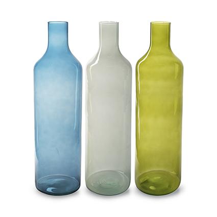 Eco vase 'balance' 3x color ass. h53 d15
