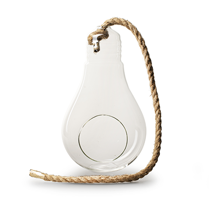 Hanging pear with rope h25 d15 cm