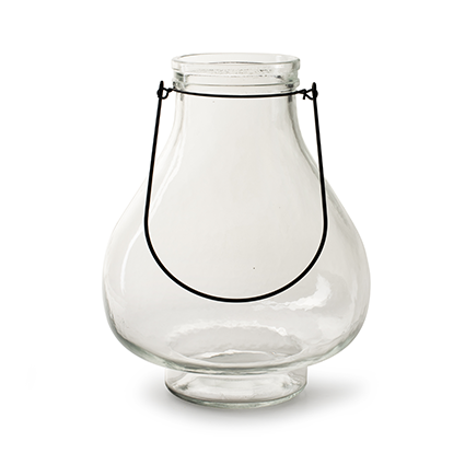 Lantaarn + handle 'pear' h25,5 d20 cm
