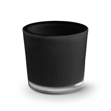Cilinder 'heavy' zwart h12 d12 cm