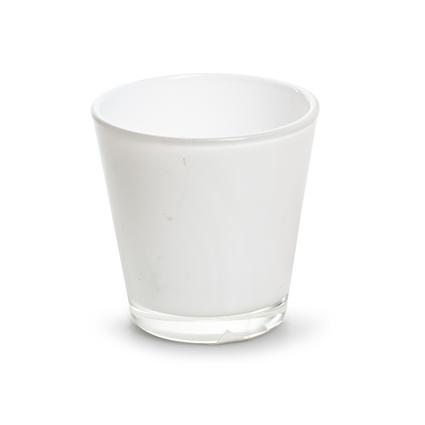 Konisch glaasje 'laila' wit h6,5 d6,5 cm