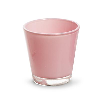 Konisch glaasje 'laila' roze h6,5 d6,5 cm