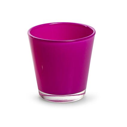 Konisch glaasje 'laila' fuchsia h6,5 d6,5 cm